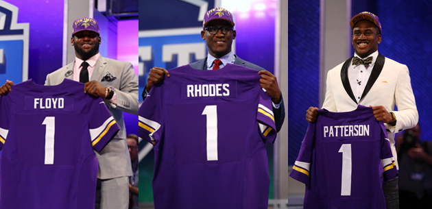 Vikings lead the charge in a first round full of surprises
