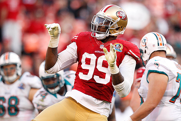 For each sack, 49ers linebacker Aldon Smith donating $5,099 to …