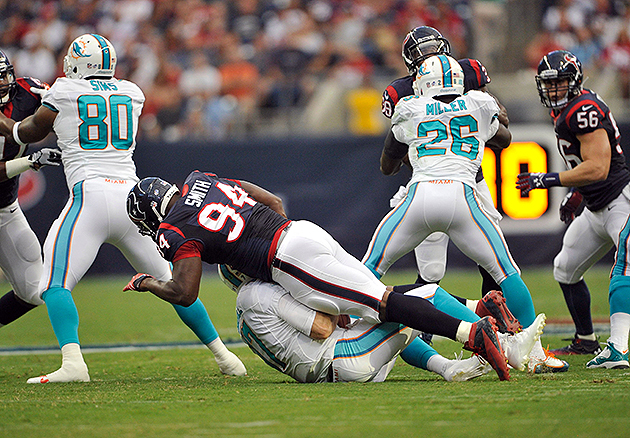 Report: Texans DE Antonio Smith to be suspended for Week 1 afte…