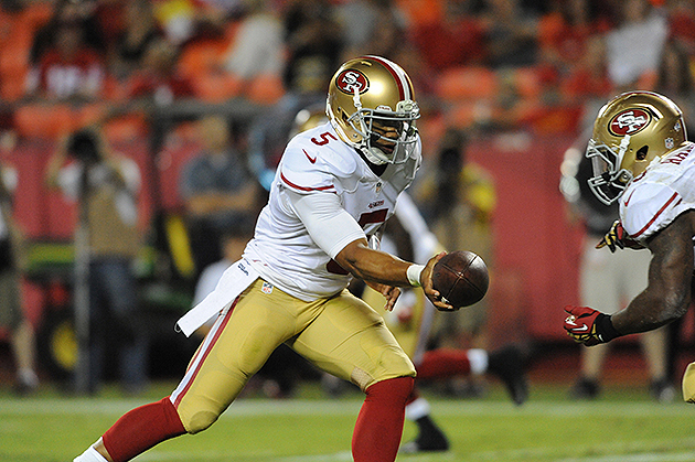 49ers rookie QB B.J. Daniels inserts himself into battle to bac…