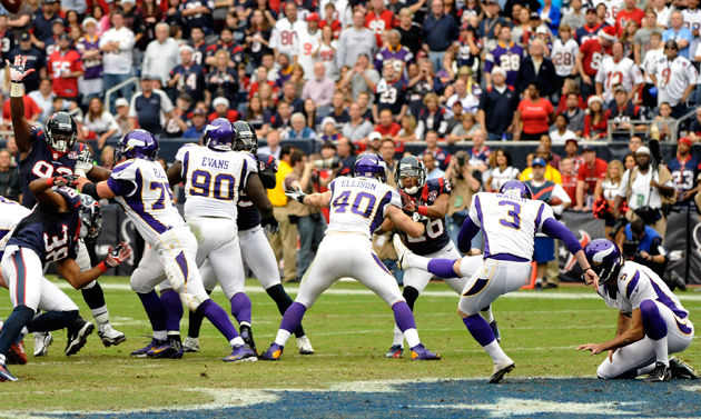 Vikings rookie kicker Blair Walsh sets NFL record by kicking ni…