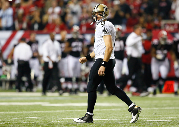 Drew Brees has first five-pick game in loss to Falcons; consecu…
