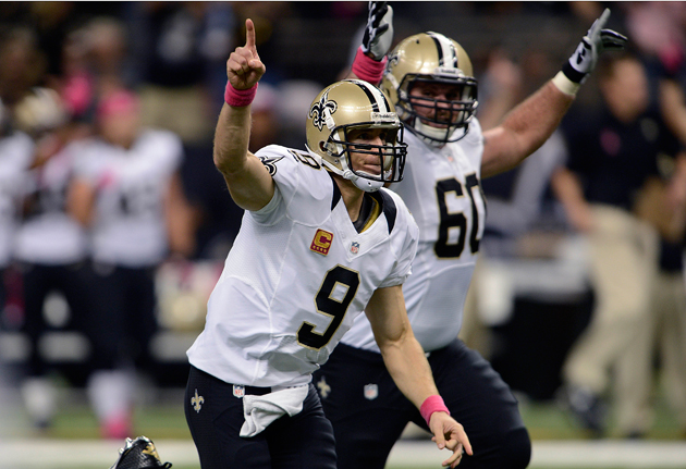 Brees breaks Unitas' record