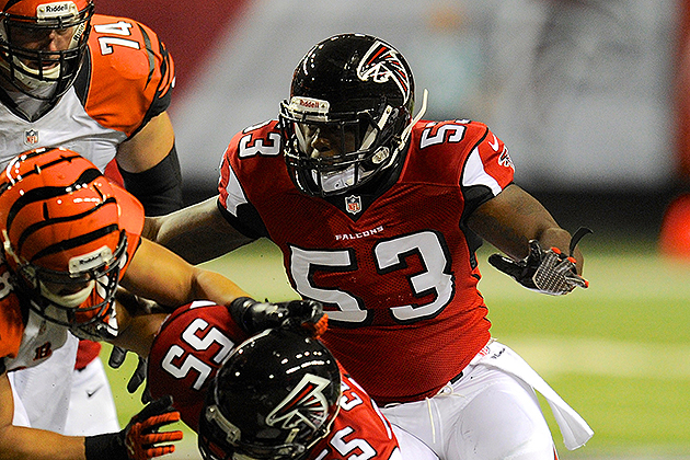 Brian Banks picks up a tackle in his NFL preseason debut