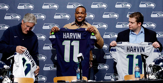 Percy Harvin happy with new team, new quarterback, a