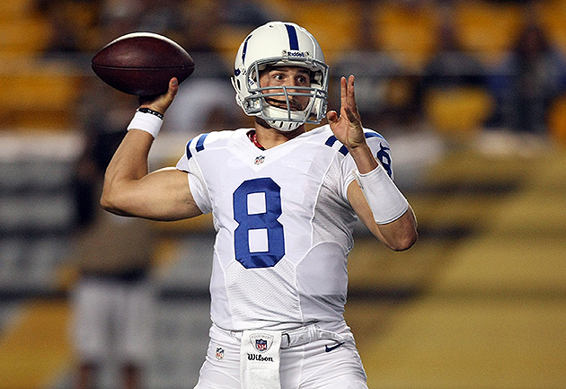 Colts quarterbacks Matt Hasselbeck, Chandler Harnish wager on h…