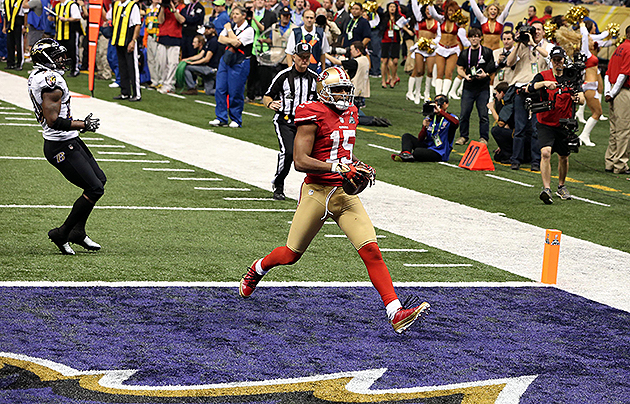 49ers wide receiver Michael Crabtree powers through Ravens seco…