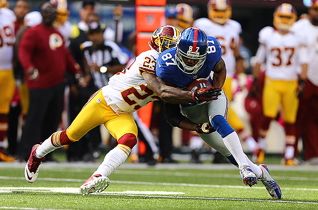 Domenik Hixon headlines Giants, Redskins inactive lists