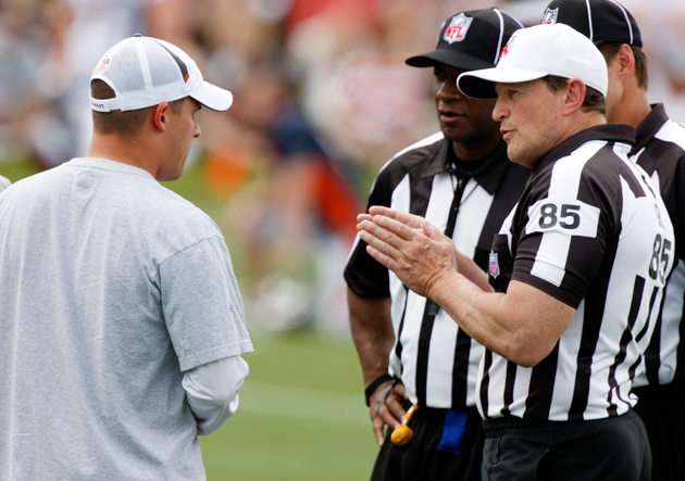 Replacement officials have been a disaster, but regular referee…