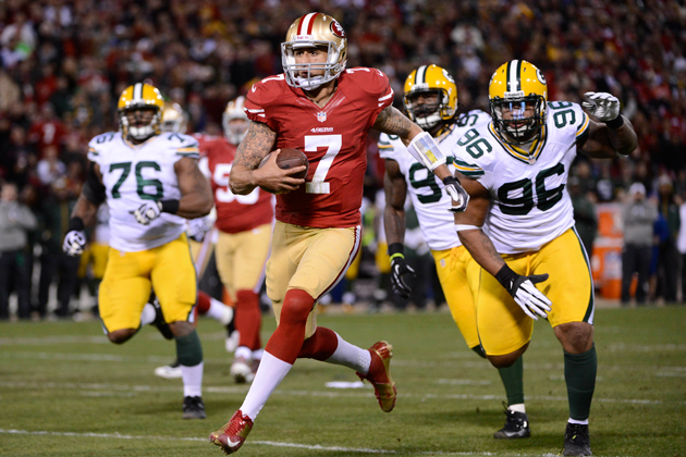 Colin Kaepernick and the 49ers send the Packers packing