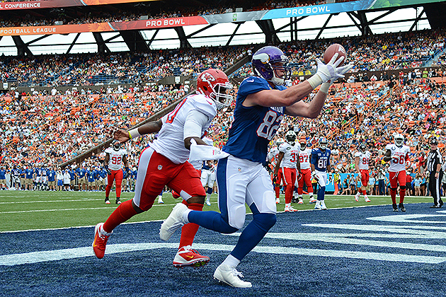 Kyle Rudolph earns MVP honors as NFC defeats AFC 62-35 in spiri…