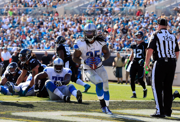 Detroit Lions RB Mikel Leshoure scores three first-half touchdo…
