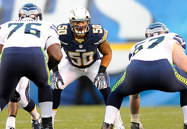 Chargers linebacker Manti Te'o will miss a week with a sprained…