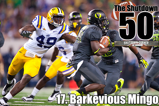 The Shutdown 50: LSU DE/OLB Barkevious Mingo