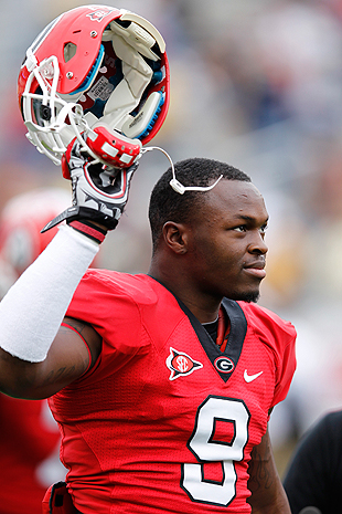St. Louis Rams select Georgia OLB Alec Ogletree with the 30th o…