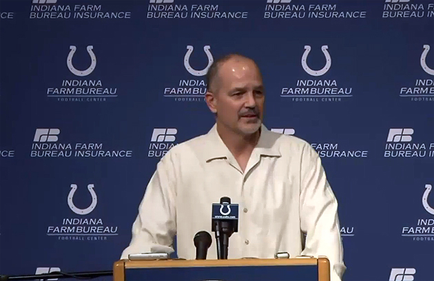 Chuck Pagano full of thanks upon his return to Colts