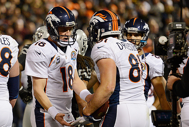Peyton Manning, Knowshown Moreno power Broncos past the Raiders…