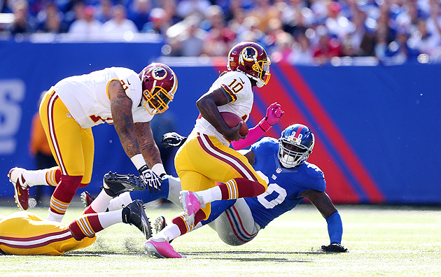 "MNF preview: Giants get their second shot at RG3""²s option offe…"