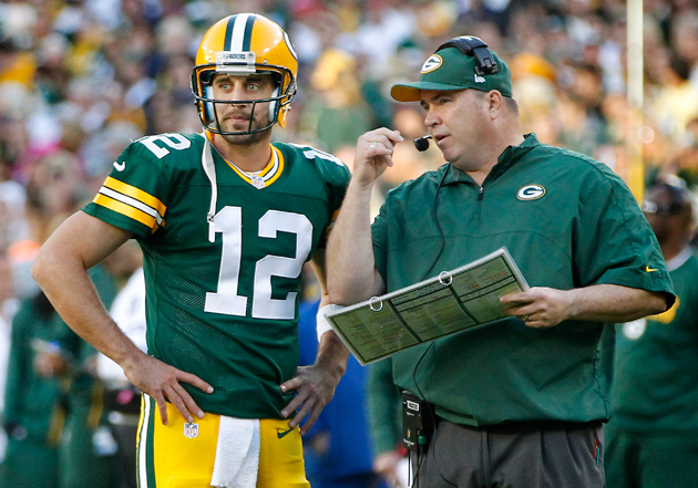 Aaron Rodgers isn't living up to last year, and he knows it