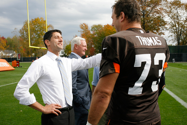 Paul Ryan visits Cleveland Browns practice, but can't tell his …