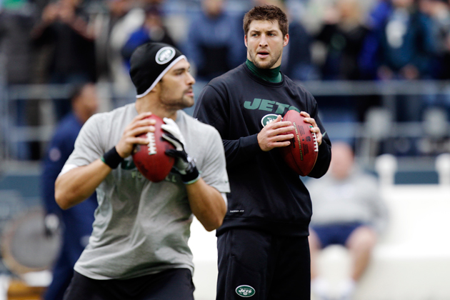 Jets name Mark Sanchez and Tim Tebow #2 QBs for Sunday's game