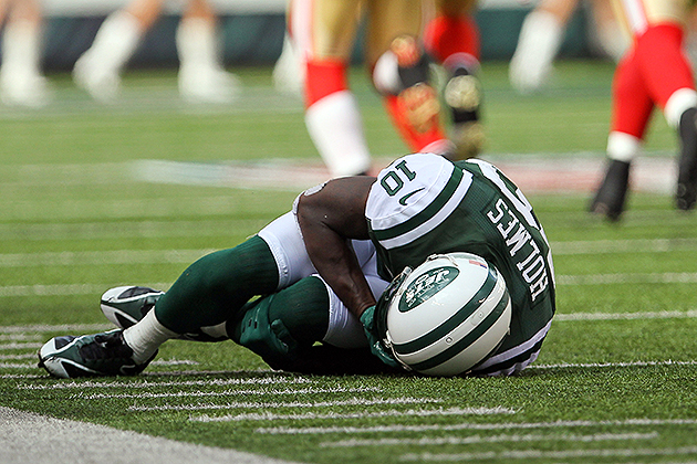 Jets WR Santonio Holmes has no timetable for his return from Li…