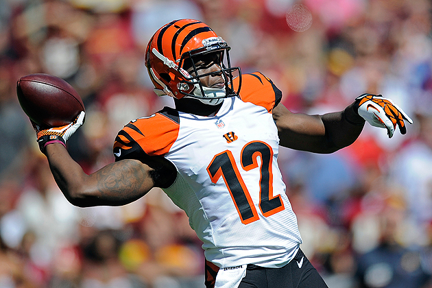 Bengals WR Mohamed Sanu throws long TD pass, QB Andy Dalton res…
