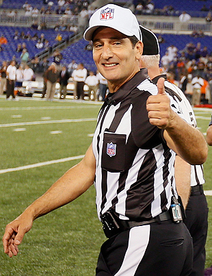 Real refs enjoy extended honeymoon phase in Browns-Ravens game