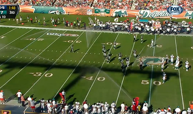 Sprinklers go off in the third quarter of Dolphins-Seahawks at …