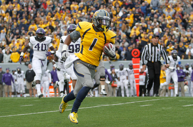 St. Louis Rams select West Virginia WR Tavon Austin with the ei…