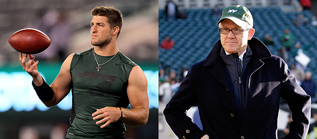 Jets owner: Tebow will be with the team through 2014