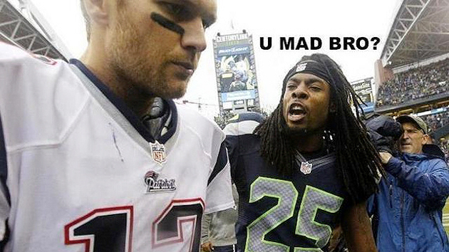 Richard Sherman beats Tom Brady; taunts the Pats with 'U MAD BR…