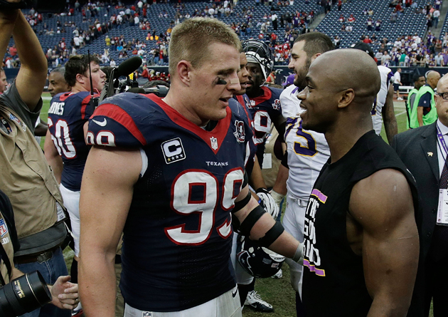 Adrian Peterson, J.J. Watt nab unanimous All-Pro honors