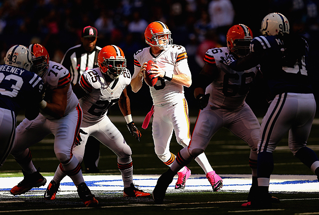 Weeden gets concussion against Steelers