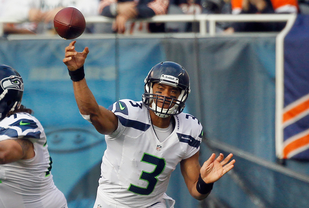 With the Luck/RG3 debate hotter than ever, Russell Wilson makes…
