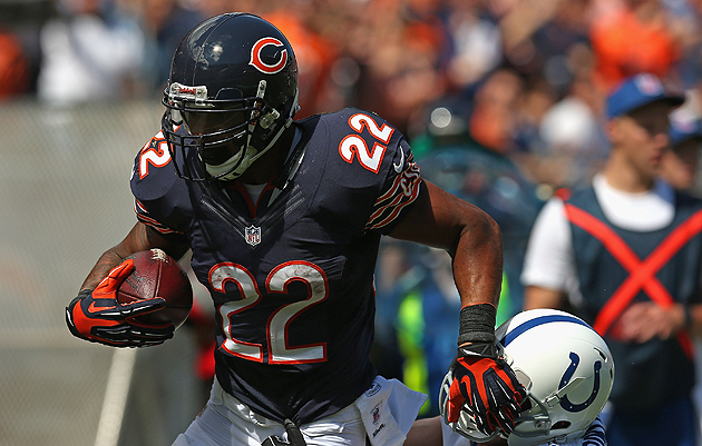Bears RB Forte starts against Cowboys on MNF