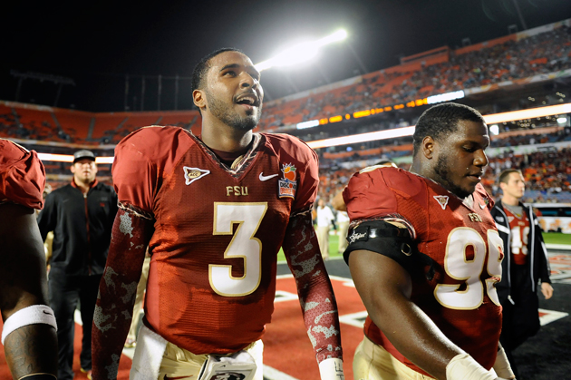 Buffalo Bills select Florida State QB E.J. Manuel with the 16th…