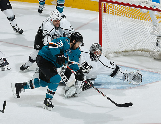 NHL Three Stars: Quick blanks Sharks; Perron tricks Canucks