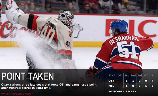 Habs rally over Sens