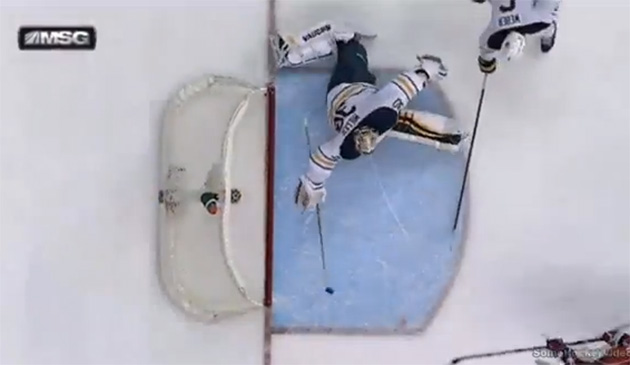 Ryan Miller makes unbelievable stick save on Capitals' Grabovsk…
