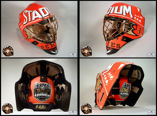 Jonas Hiller's Stadium Series gear is very, very orange (Photos…