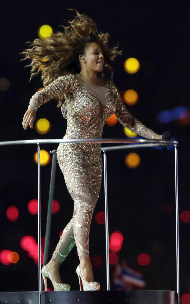 Mel B singing at the London 2012 Olympics Closing Ceremony