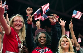 Missy Parton and Natalie Hawkins celebrate Gabby Douglas gold medal — Good Morning News