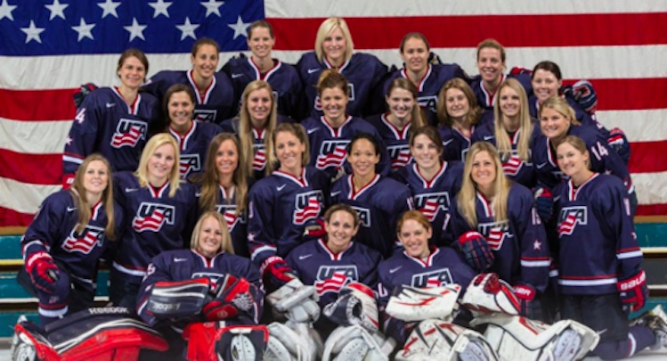 The U.S. Olympic Women's Ice Hockey Team is 2-1 against prep varsity boys' hockey teams -- USA Hockey