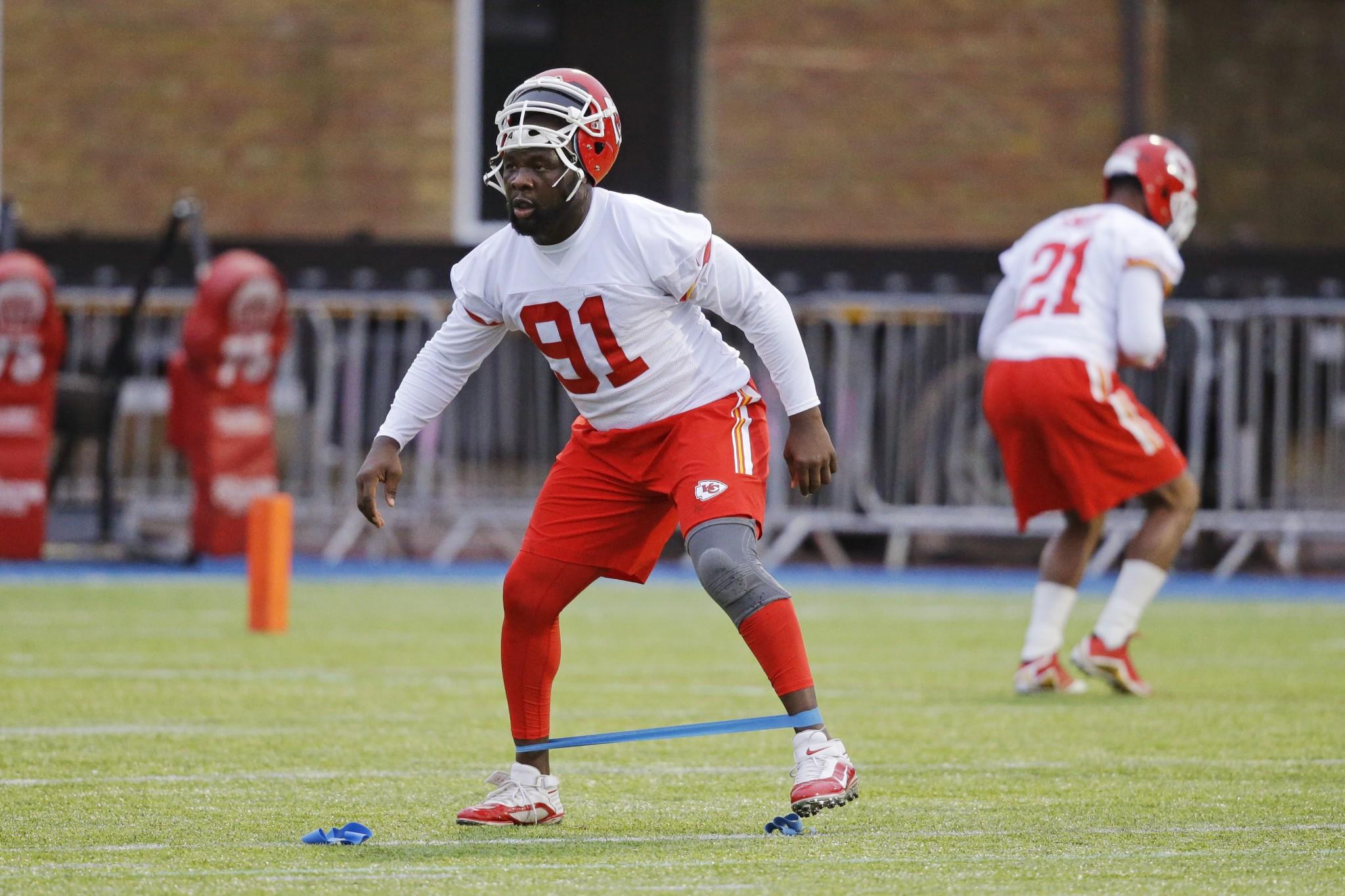Normally quiet, Chiefs veteran Tamba Hali wondered if his team still needs him in a Saturday Twitter outburst. (AP)
