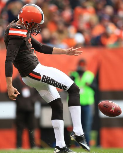 Cleveland Browns punter Andy Lee doesn't like tackling in the preseason, apparently (Getty Images).