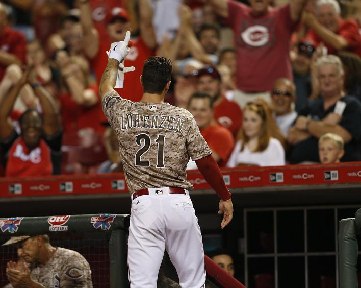 Michael Lorenzen honors late father with emotional first MLB ho…