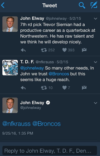 John Elway is savage, gets last laugh on year-and-a-half old tw…