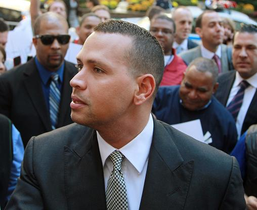 Does a suit and tie suit A-Rod best? (AP)