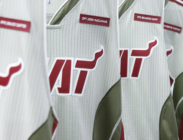 Miami Heat to honor fallen soldiers with 'Home Strong' uniforms…